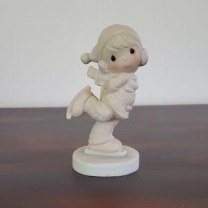 "Vtg ""Dropping In For Christmas"" Porcelain Figurine"